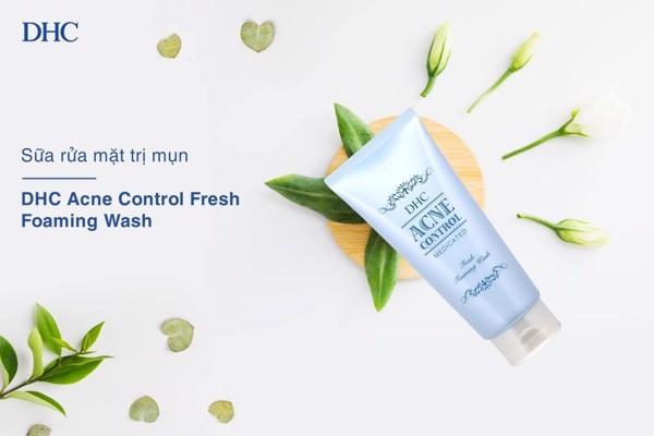sữa rửa mặt dịu nhẹ DHC Acne Control fresh foaming wash