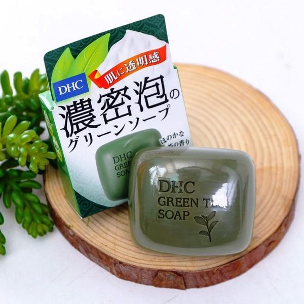 Xà phòng rửa mặt trà xanh DHC Green Tea Soap