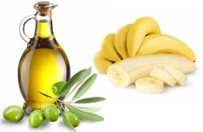 Mặt nạ chuối và dầu olive