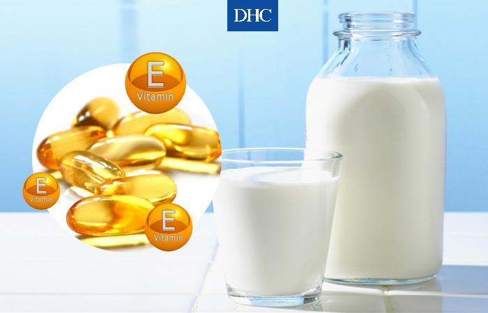 Mặt nạ vitamin E và sữa tươi