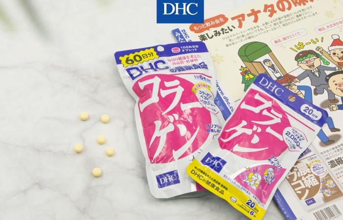 Viên uống collagen DHC cung cấp 2050mg collagen mỗi ngày cho bạn một làn da căng mịn, cơ thể dẻo dai