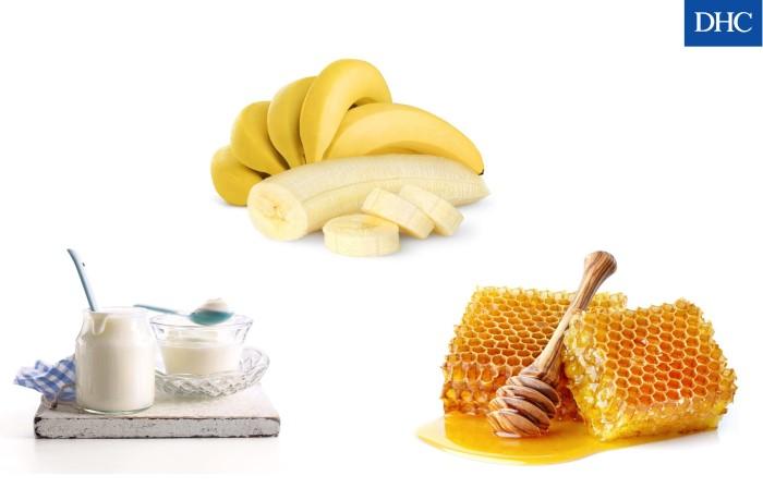 Mặt nạ mật ong sữa chua và chuối cấp ẩm cho da, cải thiện làn da sạm đen