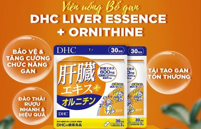 Viên uống bổ gan DHC giúp cải thiện chức năng gan, thận