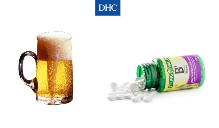 Vitamin B1 và bia kích thích tóc mọc dài và dày