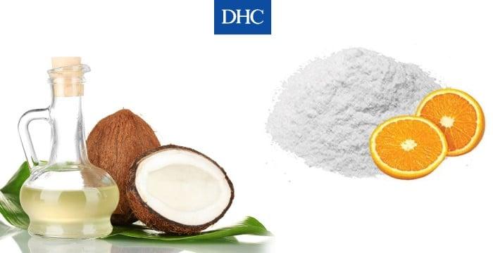 Mặt nạ bột vitamin C kết hợp dầu giúp dừa dưỡng ẩm và kháng viêm cho da khỏe mạnh