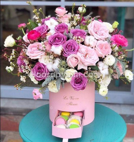 Hộp Tròn Cắm Hoa Sáp