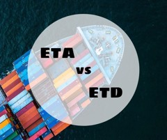 THE DIFFERENCE BETWEEN ESTIMATED TIME OF ARRIVAL (ETA) AND ESTIMATED TIME OF DEPARTURE (ETD)