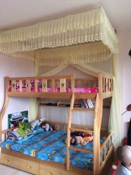 màn khung cho giường tầng