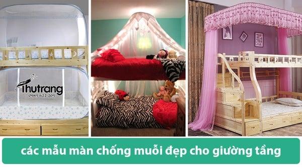 các mẫu màn chống muỗi đẹp cho giường tầng