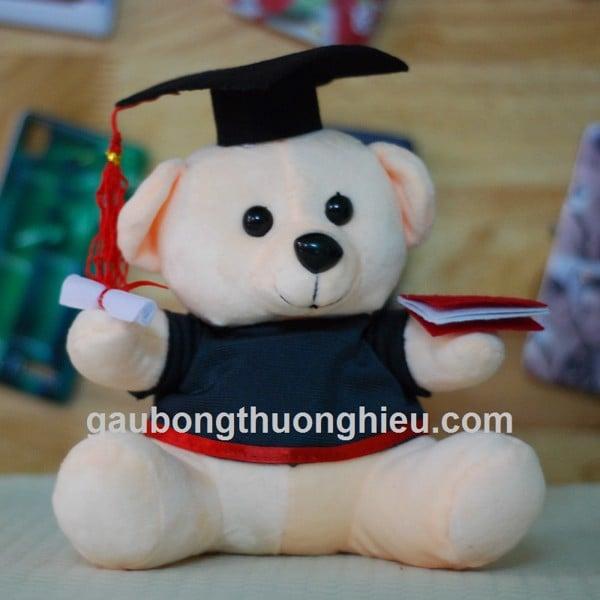 Gấu tốt nghiệp in logo
