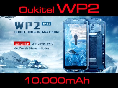 OUKITEL WP2 - PIN 10000MAH - RAM 4GB - ROM 64GB - CAMERA KÉP.