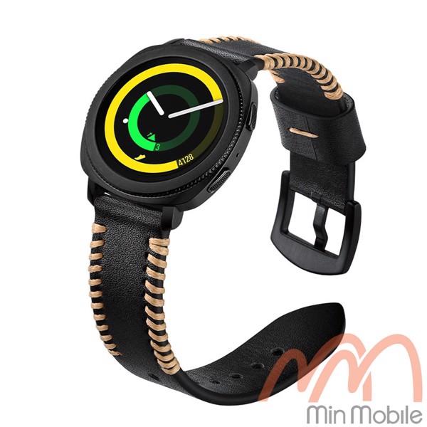 Dây da cao cấp viền chỉ nổi Samsung Gear Sport