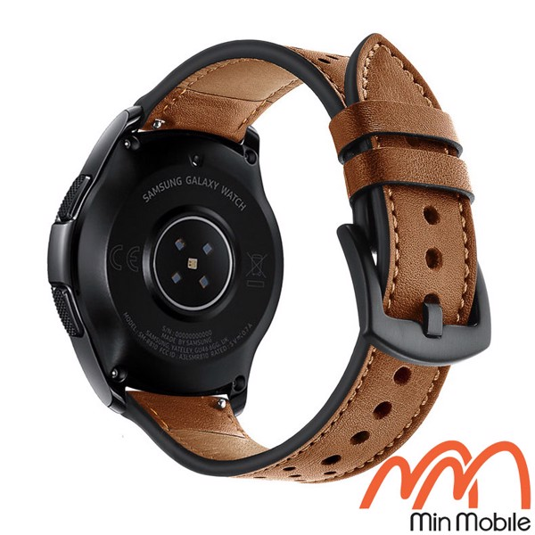 Dây da lỗ cao cấp Samsung Galaxy Watch 46mm và 42mm