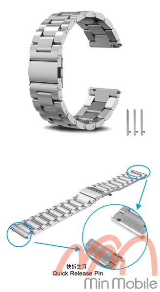Dây kim loại cao cấp mắt xích Huawei Watch Magic
