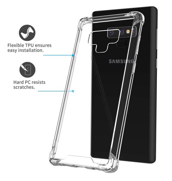 Ốp lưng trong chống sốc Samsung Note 8 Note 9 hiệu Rock 4