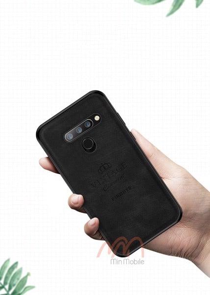 Ốp lưng da mềm nhân tạo LG V40