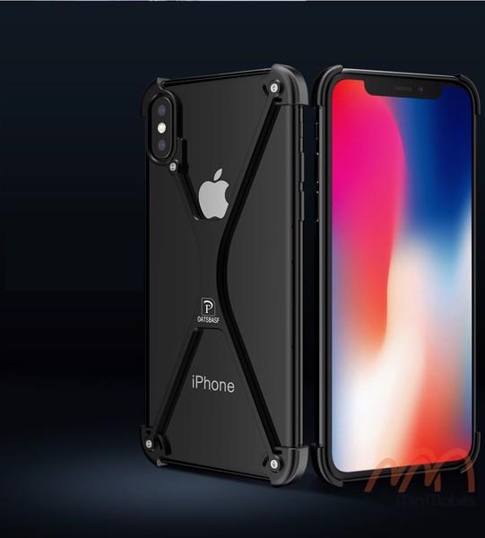 Ốp lưng viền kim loại chữ X cho iPhone X XS