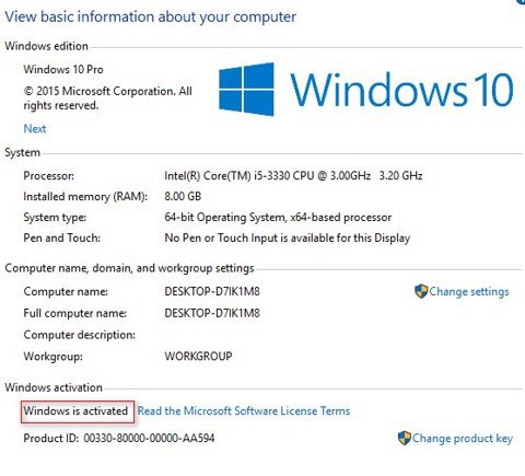 Windows 10 Product Key miễn phí cho Windows 10 Home, Education ,Pro