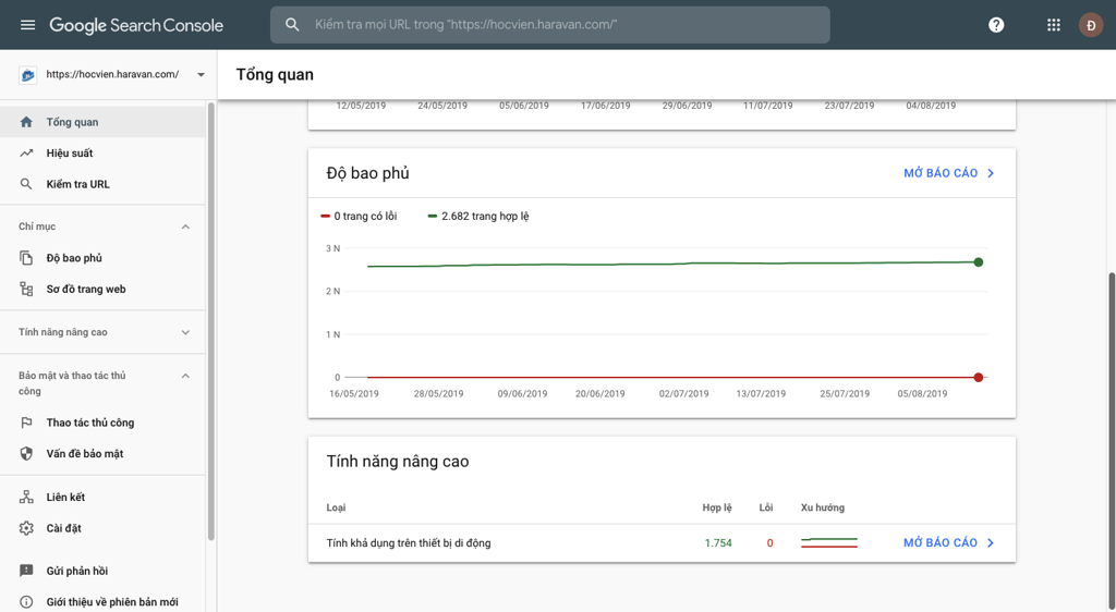 Search Console mới