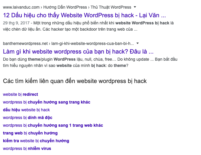Wordpress bị hack