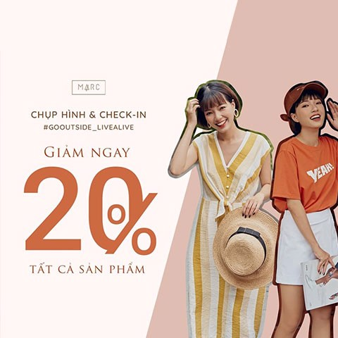 GOOUT_LIVEALIVE CHECK-IN TẠI MARC, GIẢM NGAY 20%
