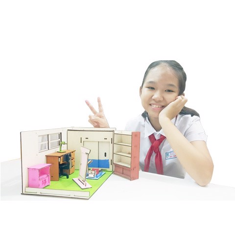Nobita DollHouse 3D wooden puzzles toys for kids