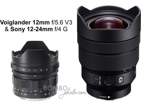 Fast comparison of Sony 12-24mm F/4 G vs Voigtlander 12mm f/5.6 @ 12mm