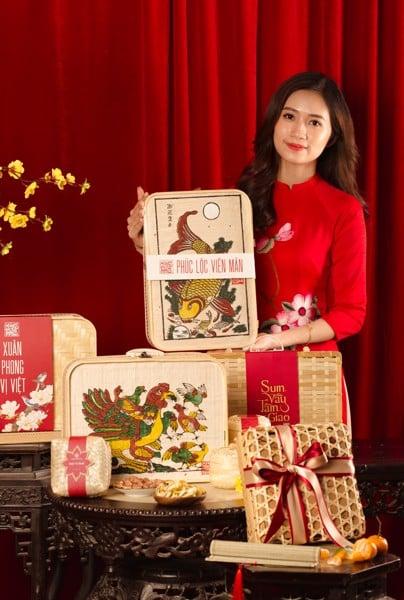 Quà Tết 2021 - Hộp quà Tết Mây tre đan Phúc Lộc Viên Mãn