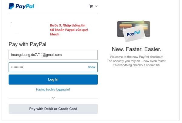 hướng dẫn thanh toán bằng ví điện tử paypal khi mua hàng online