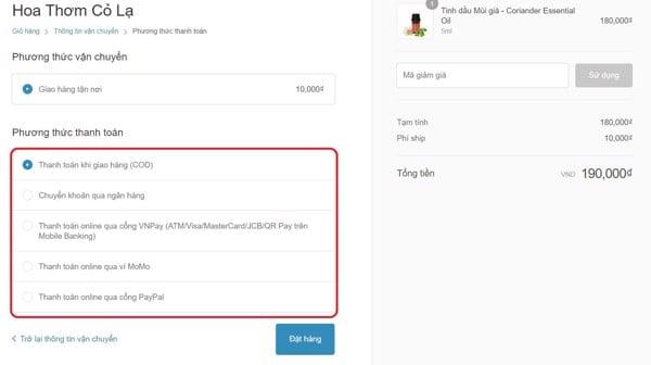Hướng dẫn thanh toán trực tuyến khi mua hàng online