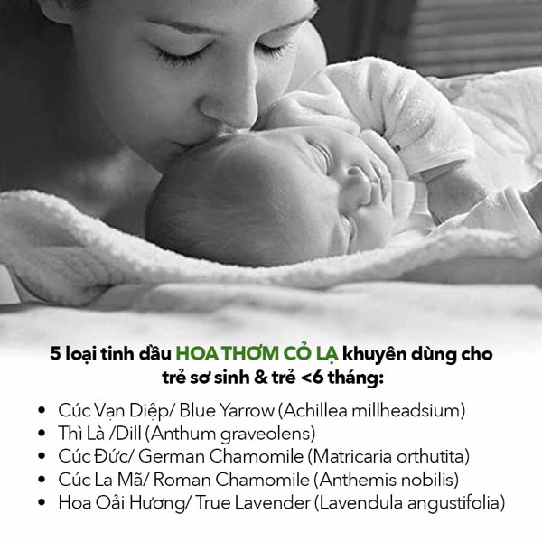 Những lưu ý khi sử dụng tinh dầu cho bé