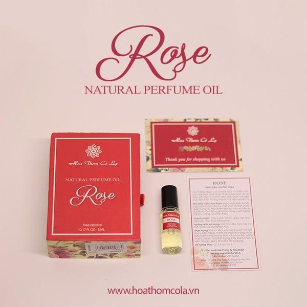 Tinh dầu nước hoa hồng - rose perfume oil