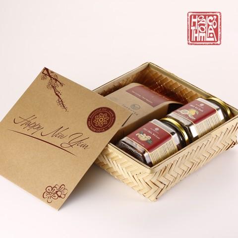 Bộ quà Tết mây tre đan 2021 - Hương Xuân Đậm Đà