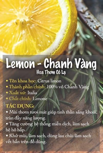 Tinh dầu Chanh (Vàng) - Lemon Essential Oil