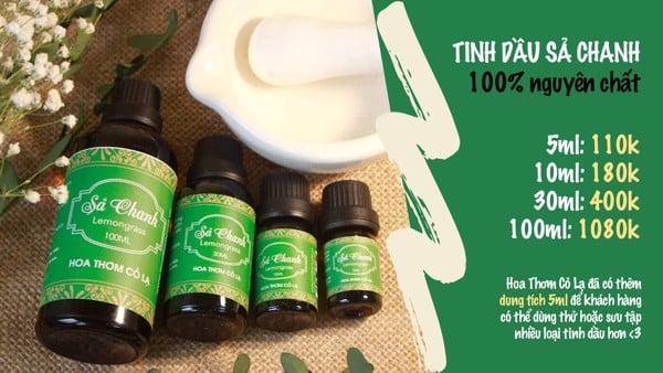 Tinh Dầu Sả Chanh - Lemongrass Essential Oil