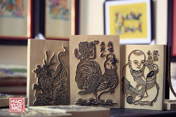 Bộ quà tết dùng tranh dân gian Đông Hồ - Hoa Thơm Cỏ Lạ