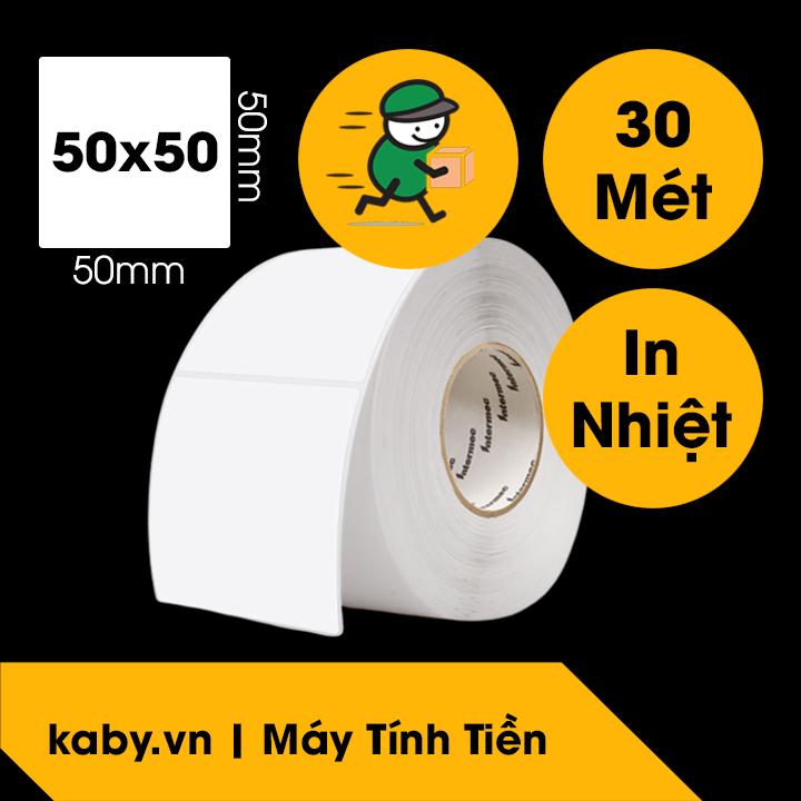giấy in mã vạch GHTK giấy in tem 50x50 mm 5x5cm giao hàng tiết kiệm