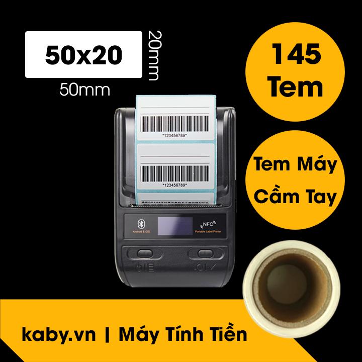 giấy in tem 50x20 cuộn nhỏ - tem nhiệt 5x2 cho máy bluetooth