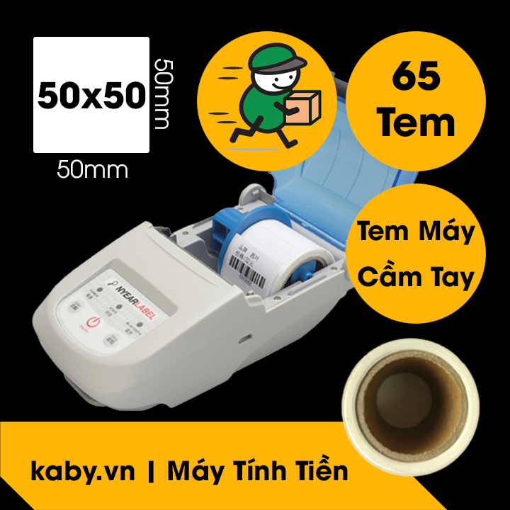 tem máy in cầm tay GHTK 50x50 mm - decal nhiệt nyear label 5x5 cm