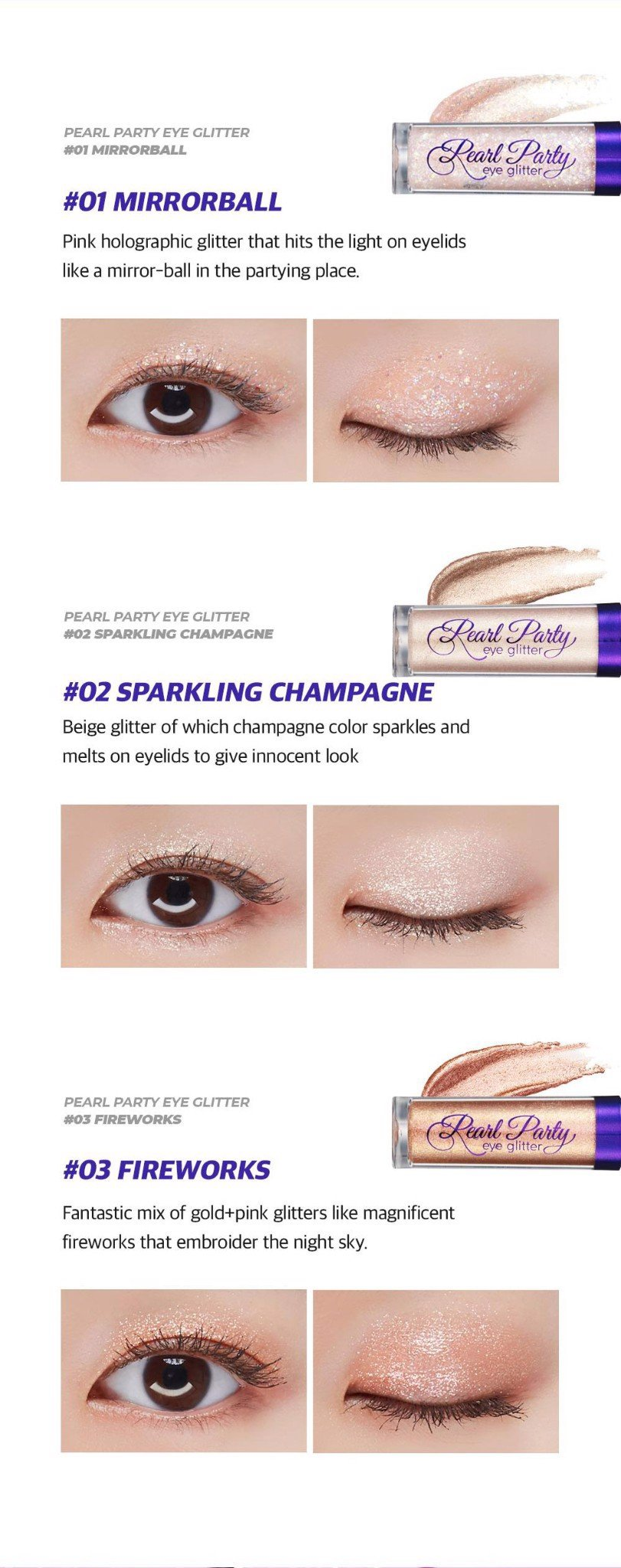 MÀU MẮT BOM PEARL PARTY EYE GLITTER - 03 FIREWORKS – B.O.M - Beauty of  Majesty