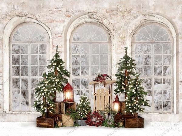 Phông Nền Giáng Sinh Chụp Hình Em Bé PG821