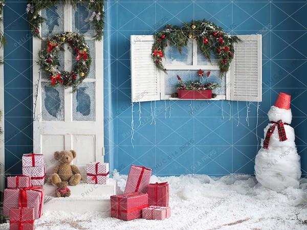 Phông Nền Giáng Sinh Chụp Hình Em Bé PG824