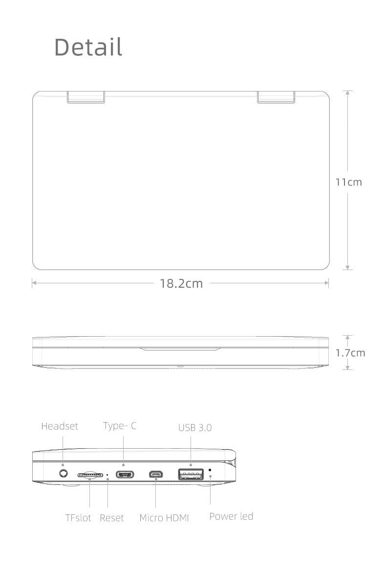 Laptop mini máy tính bỏ túi One Netbook One Mix 1S Yoga (Màn hình tách rời, Intel Celeron 396Y Dual, Core 7, 8GB DDR3 128GB PCI-E SSD, bút cảm ứng)