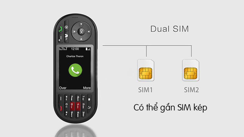 Điện thoại chơi game 4 nút kèm camera, 2 sim, nghe nhạc MP3, MP4, đèn pin VENEKU S1