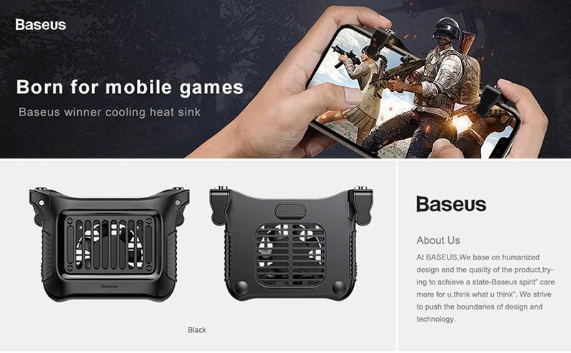 Nút bắn chơi game tích hợp quạt tản nhiệt BASEUS Winner