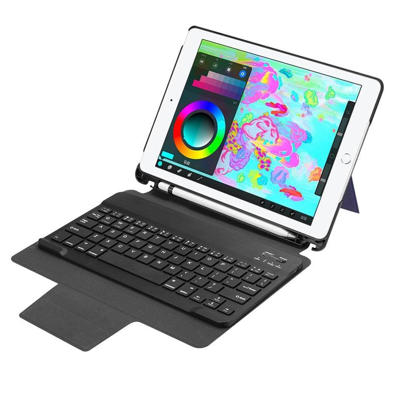 Bàn phím Bluetooth cho iPad 9.7 (2017/2018 version) kèm bao da Promax RK509