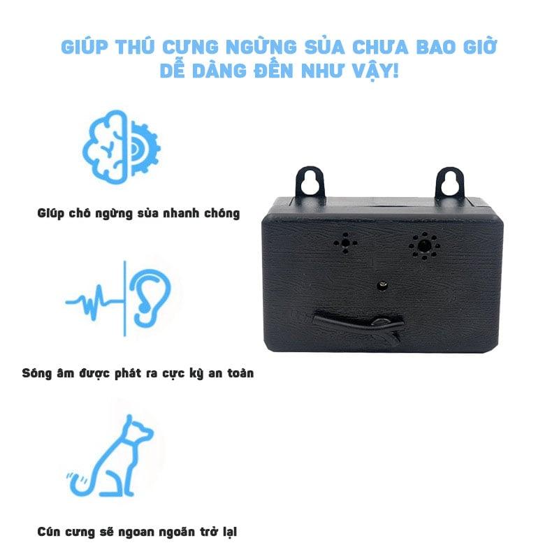 Máy chống chó sủa phát siêu âm, ngăn chó sủa trong nhà và ngoài trời Aturos CSB19