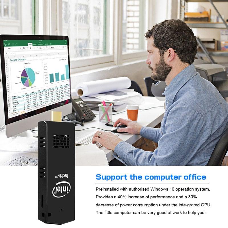 Mini PC, CPU mini nhỏ gọn Chip Intel lõi tứ Z8350 hệ điều hành Windows 10 Aturos T5