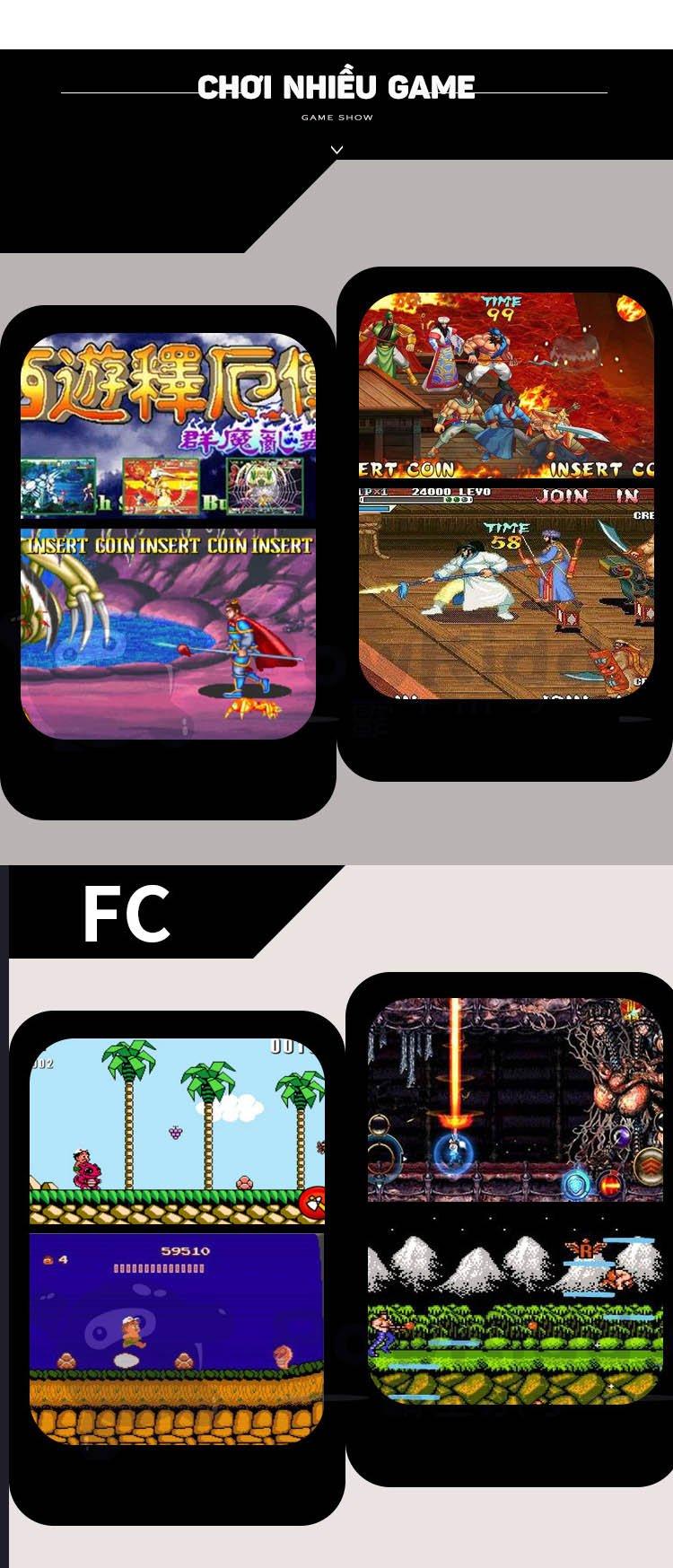 Máy chơi game cầm tay Powkiddy Restro Q70 màn IPS 2.4 inch tích hợp thẻ nhớ chơi game thùng, game GBA,GBC,PS1,...12 loại game giả lập