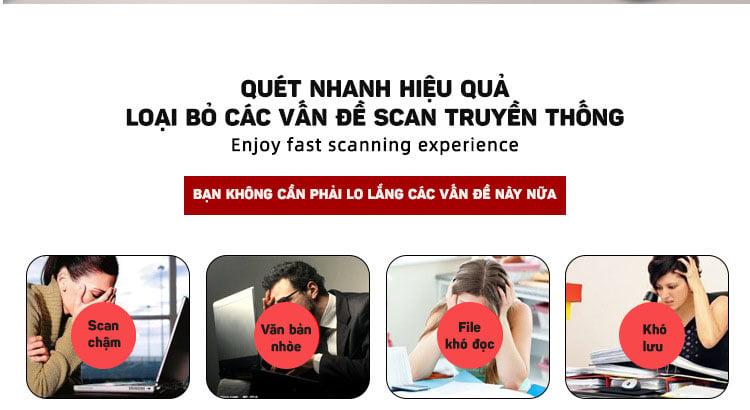 Máy scan văn bản giấy chuyển thành file Word, Excel, hỗ trợ tiếng Việt Aturos 8P